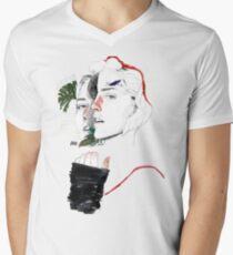 CELLULAR DIVISION II by elena garnu V-Neck T-Shirt