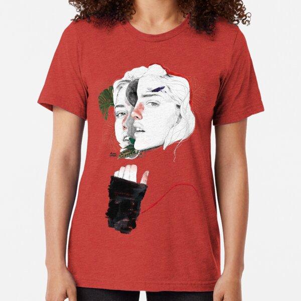 CELLULAR DIVISION II by elena garnu Tri-blend T-Shirt
