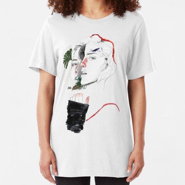CELLULAR DIVISION II by elena garnu Slim Fit T-Shirt