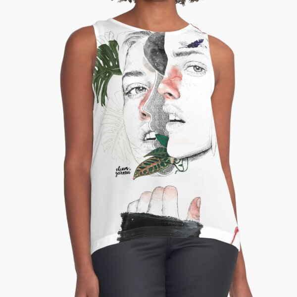 CELLULAR DIVISION II by elena garnu Sleeveless Top
