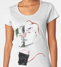 CELLULAR DIVISION II by elena garnu Premium Scoop T-Shirt