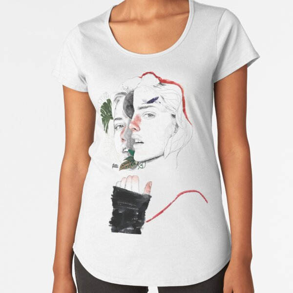 CELLULAR DIVISION II by elena garnu Premium Scoop T-Shirt