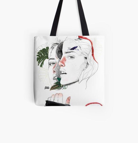 CELLULAR DIVISION II by elena garnu All Over Print Tote Bag
