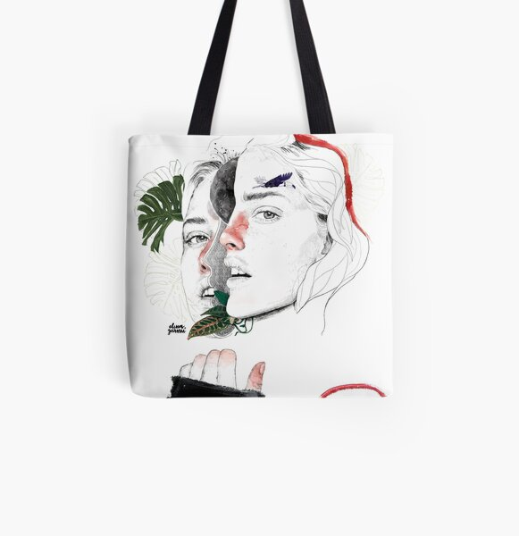 CELLULAR DIVISION II by elena garnu All Over Print Tote Bag