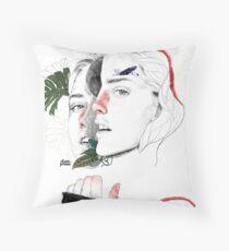 CELLULAR DIVISION II by elena garnu Throw Pillow