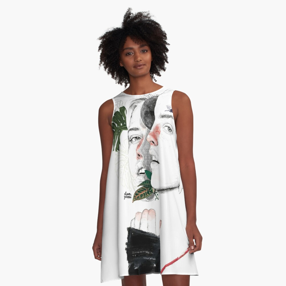 CELLULAR DIVISION II by elena garnu A-Line Dress