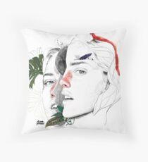 CELLULAR DIVISION II by elena garnu Floor Pillow