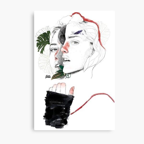 CELLULAR DIVISION II by elena garnu Metal Print