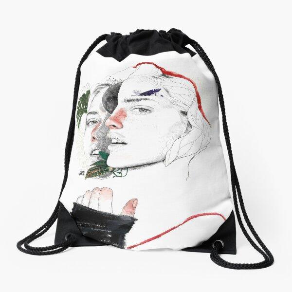 CELLULAR DIVISION II by elena garnu Drawstring Bag