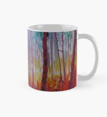 They Know - a semi abstract forest landscape with deer Mug