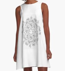 Fish & Autumn Mandala A-Line Dress