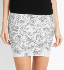 Fish & Autumn Mandala Mini Skirt