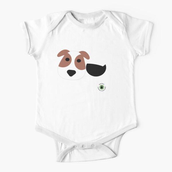 Spell Bear's Dog Short Sleeve Baby One-Piece