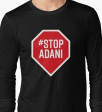 stop adani logo Long Sleeve T-Shirt