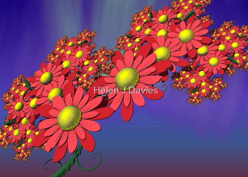 Floral Fractal by Helen J Davies