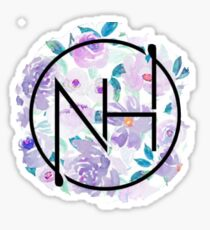 Niall purple floral Sticker