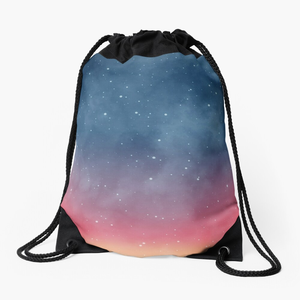 Abstract Borealis Sky Art Drawstring Bag
