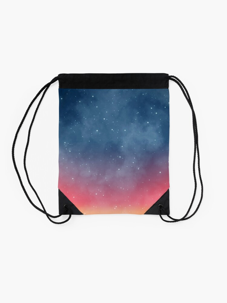 Alternate view of Abstract Borealis Sky Art Drawstring Bag
