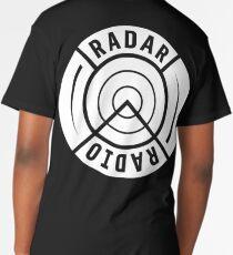 RADAR RADIO BACK PRINT / WHITE - GRIME Long T-Shirt