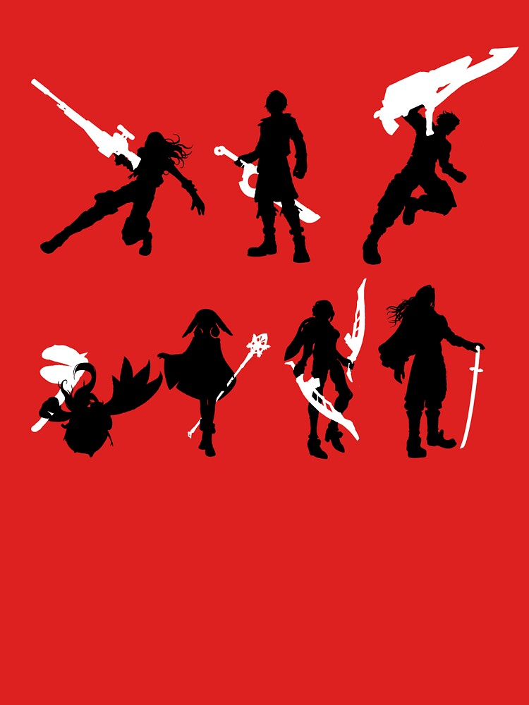 Xenoblade party silhouette (ver. 2) | Unisex T-Shirt