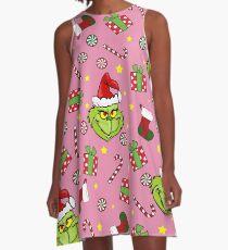 Grinch pattern A-Line Dress