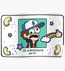 "Dipper Pines' ""Sir Dippingsauce"" Fake ID Card Replica Poster"