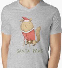 Santa Paws Men's V-Neck T-Shirt
