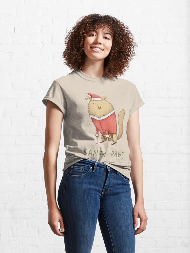Alternate view of Santa Paws Classic T-Shirt