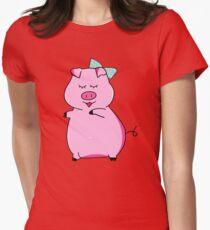 Piggy Pink Women's Fitted T-Shirt
