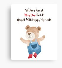 Wishing you a May Day that is bright with Happy moments Canvas Print