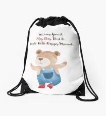Wishing you a May Day that is bright with Happy moments Drawstring Bag