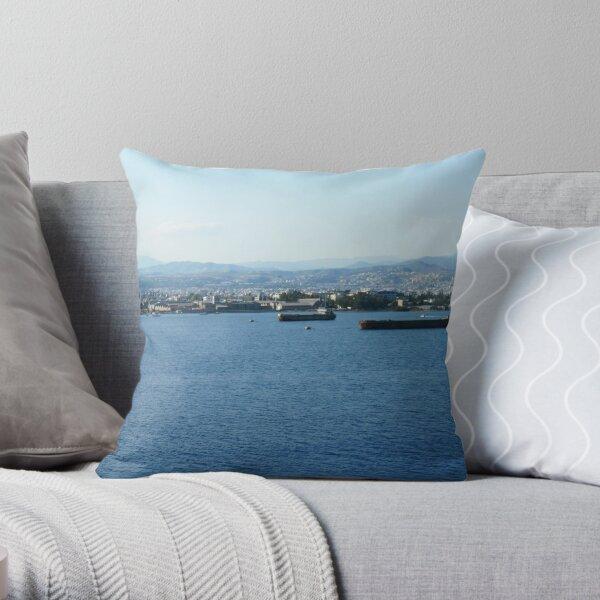 Cyprus Coast Throw Pillow