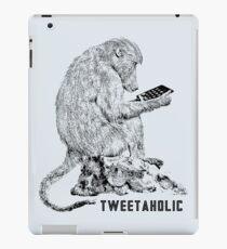 """Tweetaholic"" Tweeting Baboon Parody Design iPad Case/Skin"