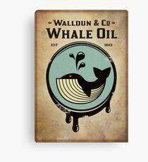 Walldun & Co Whale Oil Canvas Print