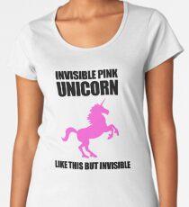 Invisible Pink Unicorn Women's Premium T-Shirt