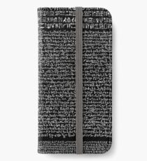 Rosetta Stone iPhone Wallet/Case/Skin