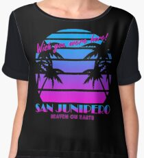 san junipero - A person should design the way he makes a living around how he wishes to make a life. Women's Chiffon Top