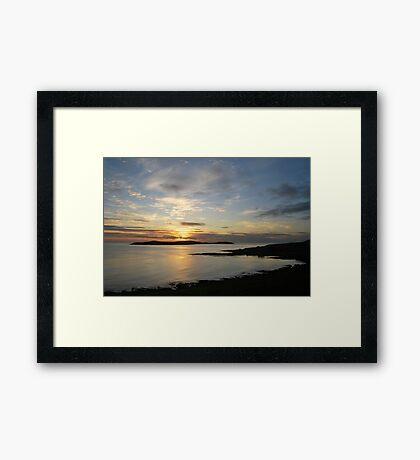 sunrise over mousa [2] Framed Print