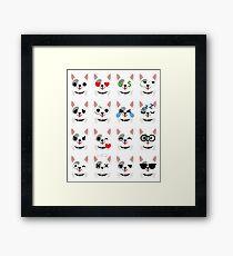 Pit Bull Emoji   Framed Print