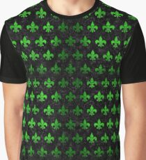 ROYAL1 BLACK MARBLE & GREEN BRUSHED METAL (R) Graphic T-Shirt