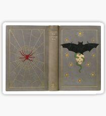 """""""The Eerie Book"""" antike Abdeckung mit Fledermaus, Schädel & Spinne Sticker"""