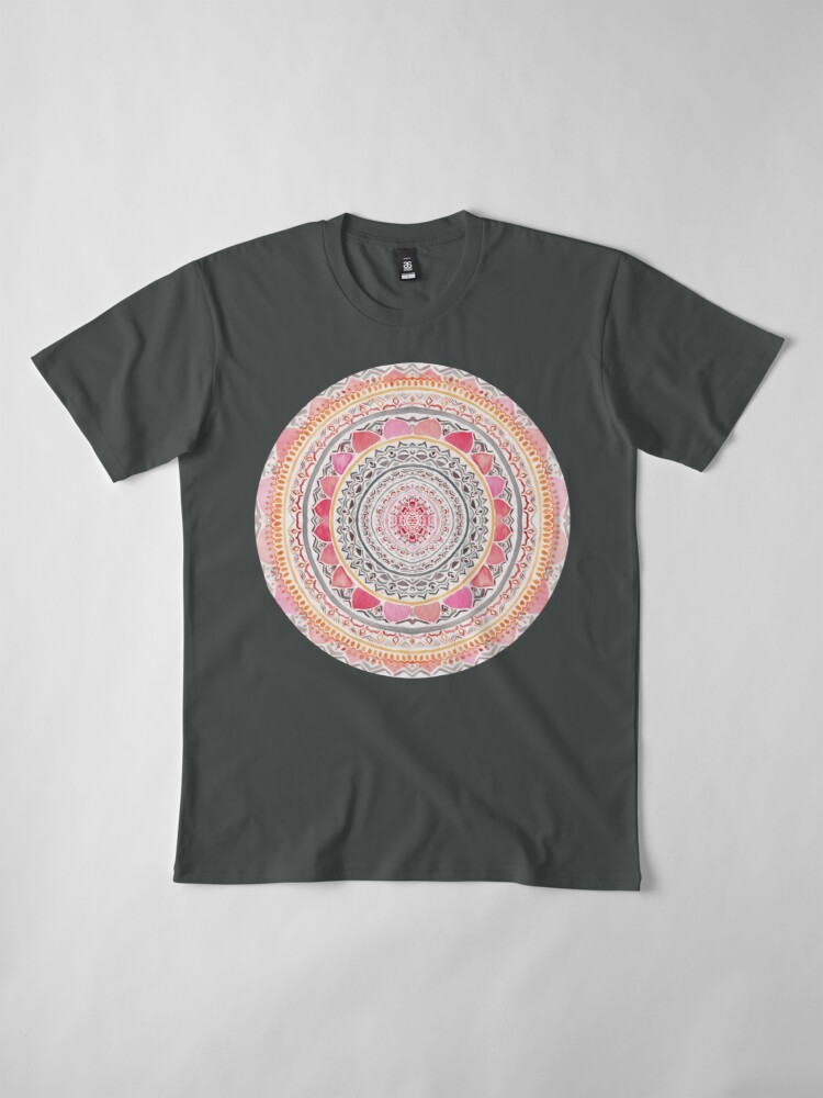 Alternate view of Pastel Bohemian Mandala Premium T-Shirt