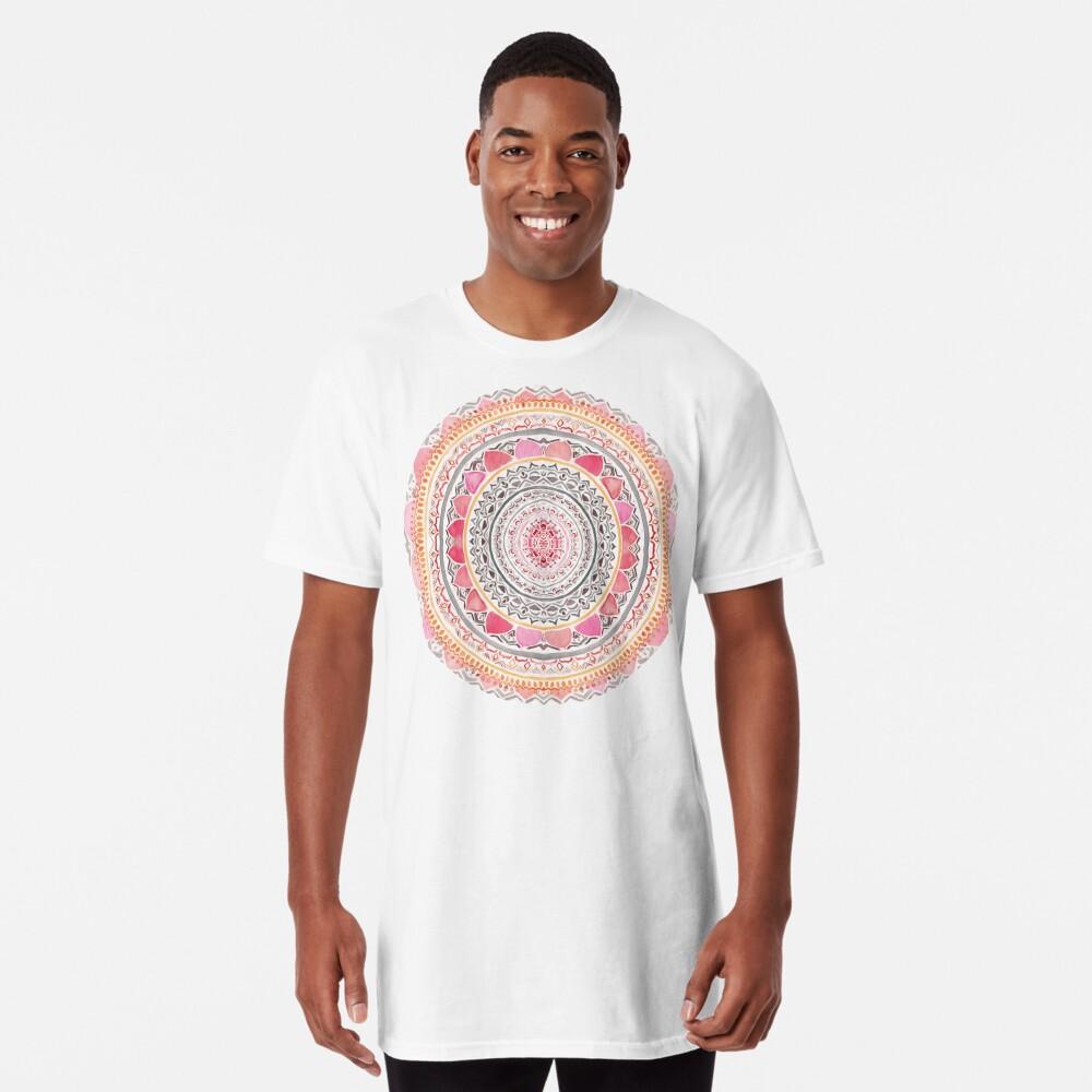 Pastel Bohemian Mandala Long T-Shirt
