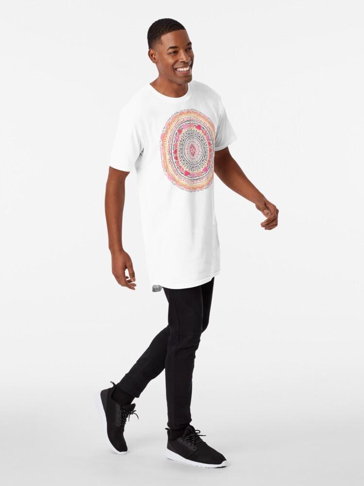 Alternate view of Pastel Bohemian Mandala Long T-Shirt