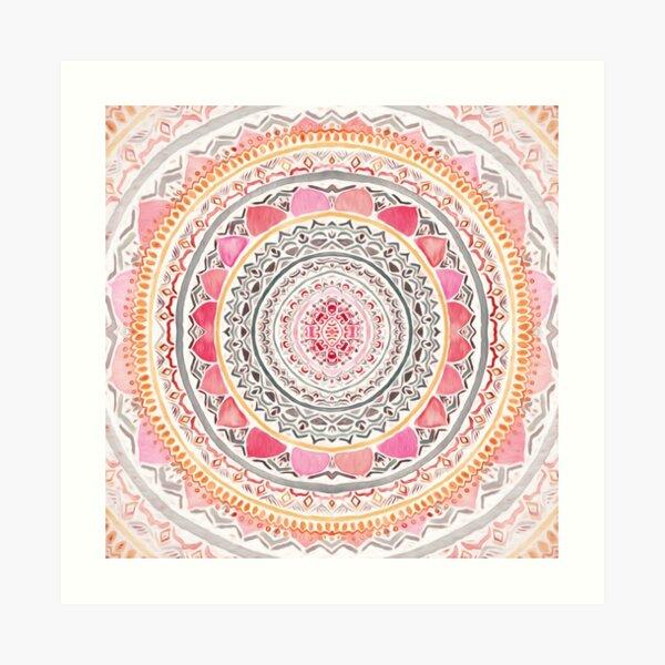 Pastel Bohemian Mandala Art Print