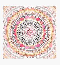 Pastell böhmische Mandala Fotodruck