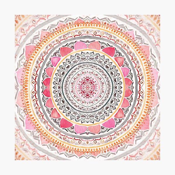 Pastel Bohemian Mandala Photographic Print