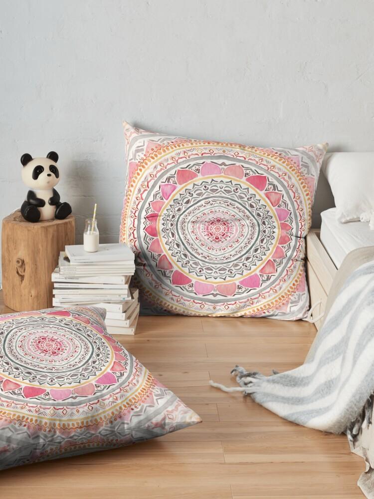 Alternate view of Pastel Bohemian Mandala Floor Pillow
