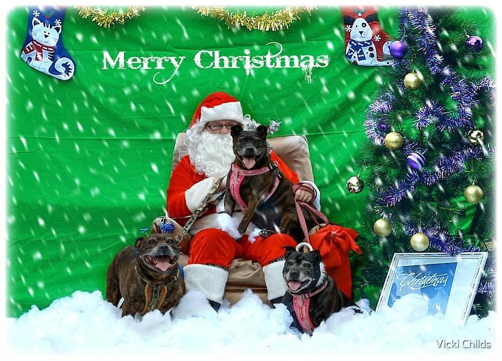 Happy Staffy Christmas! by Vicki Childs