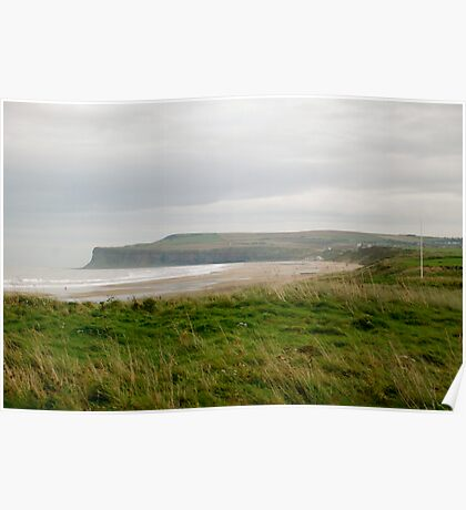 Hunt Cliff at Saltburn Poster